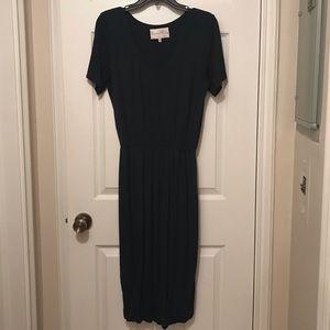 Charles Henry Bloused Knit Dress M Pine